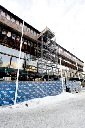 Ombyggnad. Klart i maj vid Olof Palmes torg.BILD: ANDERS ERKMAN