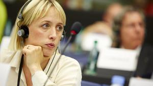 Jytte Guteland (S) deltar i tisdagens direktsända EU-debatt. Arkivfoto.