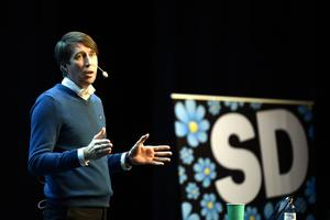 Richard Jomshof (SD) talade i Sundsvall på lördagen.