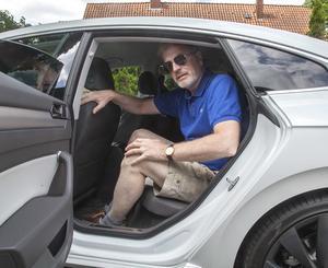 Det är gott om utrymme i baksätet. Enligt Volkswagen är man klassledande.