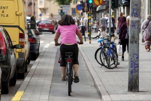 Många kortare resor kan göras med cykel i stället för bil.