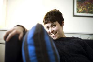 Matilda Thuresson i soffan
