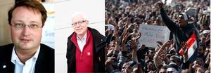 ALLVETANDE? Torbjörn Edlund protesterade mot bilden av Olof Palme, men var inte så noga med detaljerna. Lars Beckman sprider rykten och anonymt skvaller. I Kairo säker hundratusentals demonstranter efter en ny sanning.