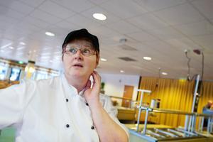 """""""Det var ett lager av vitt pulver överallt i hela köket när vi kom i morse, säger kökschefen Eva Nilsson."""