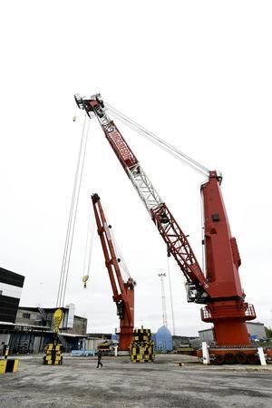 MacGregor Cranes har förutom kontor i Örnsköldsvik även en testanläggning i Gullänget. Foto: Jennie Johansson.