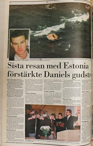 Artikel med Daniel Svensson i Arbetarbladet 1995.