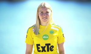 Amanda Hagelberg räknar inte med någon speltid innan uppehållet – men i torsdagens möte med Gustafs är hon med i Ljusdals matchtrupp.
