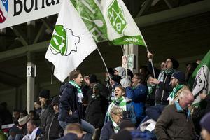 Bragesupportarna i Serik Fans sjöng under i stort sett hela matchen.