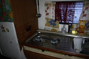 Husvagnens enda värmekällorna utgörs av två gasolplattor.