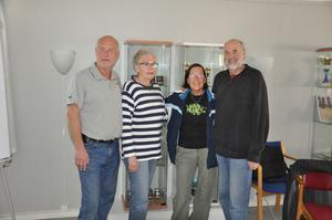 Från vänster: Lennart Nord, Gun-Britt Wicksell, Anita Persson och Eddie Lundh.