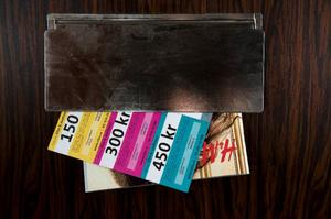 Vi betalar själva för reklamen som kommer i brevlådan.