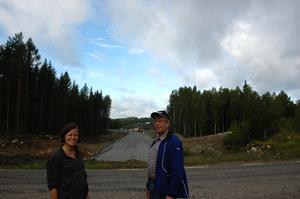 Den nya vägen ska gå genom en vägport under Herrgårdsvägen. Längre fram kommer den nya tömningsstationen att ligga.