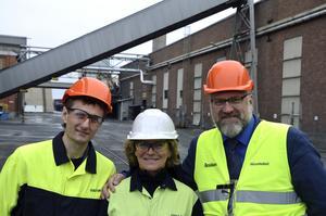Igor Fomichev, miljöchef på Rusals smältverk i Kranojarsk, Ebba Åkerlund, miljöchef på Kubal och Åke Mikaelsson, Naturvårdsverket.