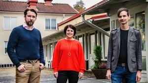 30 extra miljoner till Sundsvalls äldreboenden. Hans Forsberg (C), Malin Larsson (S) och Niklas Evaldsson (V) presenterade en stor välfärdssatsning på tisdagen.