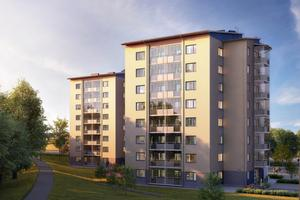 I nybyggnadsprojektet Byhöjden i Bosvedjan i Sundsvall kommer man installera solceller på taken.
