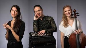 Melissa Jacobson-Velandia, Iryna Serotyuk och, Amalie Stalheim är finalister i Solistpriset.