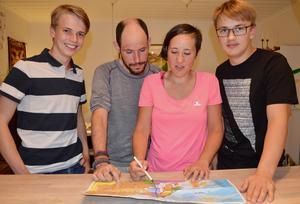Axe Karell, Miguel Alonso, Sara Moreno och Gustav Karell.Foto: Anders Forselius
