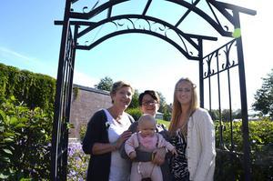 Christina Thonman, Alice Parment (längst fram), Margareta Hammarström och Anna Parment.