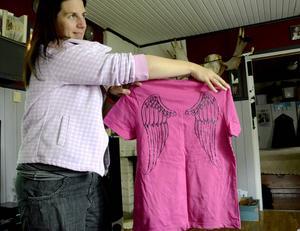 Dessa tröjor bar Astrid Wallberg och Peder Norlund under cykelturen.