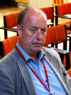 Olle Åkerlund, föreståndare för IF Metalls arbetslöshetskassa, men även ett tungt namn inom arbetarrörelsen i Sundsvall.