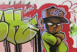 Gävles graffitivägg överraskar dagligen.