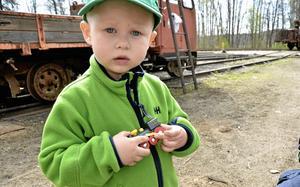 Ljudliga. Casper Nyström gillar både små och stora tåg, men de stora loken var lite läskiga när de visslade.$RETURN$$RETURN$