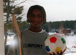 Kalle, 14 år, 1999, i Strömsbruk, talang i fyra olika sporter.