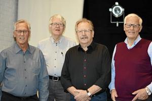 Rune Forslin, Jan-Olov Olsson, Alf Andersson och Nisse Norén deltog i RPG:s senaste möte.