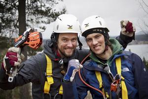 Bröderna Anders och Dennis Malmberg ser fram emot sommaren då Zipline-anläggningen ska öppnas för allmänheten.