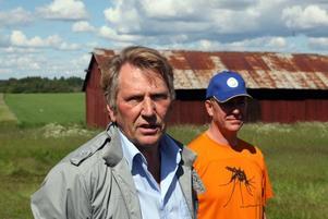 Kalle Hedin och Jan Lundström berättade om årets bekämpning, den mest omfattande hittills då bekämpning sker över uppemot ett par tusen hektar.