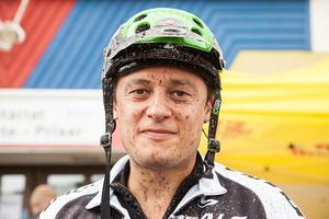 Daniel Gahne från Gotland gjorde inga vurpor. Han tyckte att det var mycket backar och tufft utför, men fint och lagom varmt att cykla 40 kilometer.