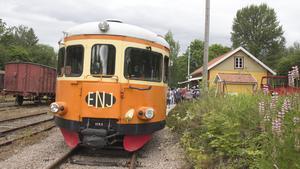 Rälsbussarna går mellan Kärrgruvan och Ängelsberg till och med 21 augusti.