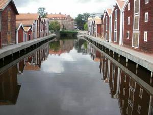 Jag och min bästis Malin var uppe i Hudiksvall i början av augusti. Det var där jag tog denna fina bild nere i hamnen.