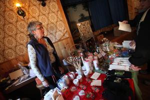 Ing-Marie Norell gjorde sitt första besök som utställare på marknaden på lördagen.