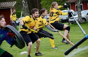 Intensivt. Totalt tolv lag från Sverige, Tyskland, Irland och Australien deltog i Juggerturneringen som arrangerades av Järnboås IF på Finnsjöstrand under söndagen. Ett intensivt spelschema fyllde eftermiddagen.
