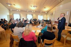 Möte för lokala politiker i Sydnärke om flyktingmottagande, anordnat av Länsstyrelsen med samarbetspartners.