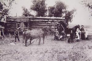 Familjen Justus var den första familjen som emigrerade till Amerika från skog 1850.
