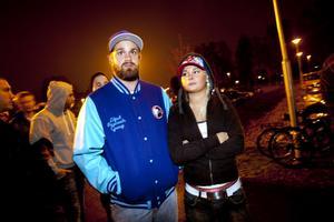 Daniel Gerdin och Hanna Skog från Gävle vill vara med när det händer lite saker – trots att hiphop inte är favoritmusiken.