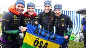Alftas vassa damer som var nära toppen - igen. Från vänster: Josefin Engström, Galina Vinogradova, Sara Eskilsson och Natalia Gemperle fick nöja sig med en nog så stark sjätte plats i Venlakavlen.