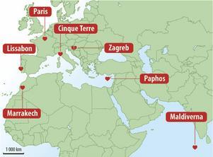 Cinque Terre i Italien består av fem byar med fotogeniskt läge.