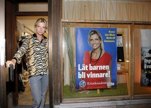 Kristdemokraternas toppnamn Liza-Maria Norlin.