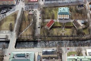 Bild från förundersökningen över Slottsparken i Gävle där Ramin Sherzaj kidnappades.