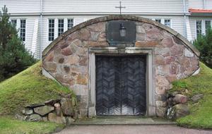 Det bidde ett likskjul. Cyrillus Johanssons enda byggnadsverk i hemstaden Gävle.