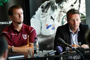 Sarajevos nye coach Jiri Plisek till vänster.
