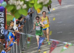 Mikael Ekvall i herrarnas halvmara i friidrotts-EM i Amsterdam 2016.