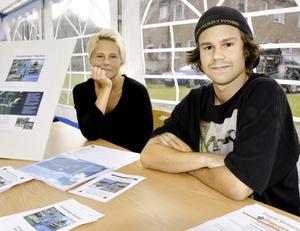 Syskonen Sanna och Tim Jönsson presenterade en plan för bättre tillgänglighet vid badet i Sågviken samt för den hemsida för utvecklingsprojektet som helhet som är under uppbyggnad.