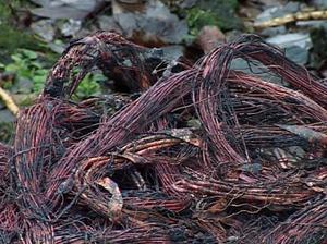 Koppartråd är eftertraktat stöldgods.