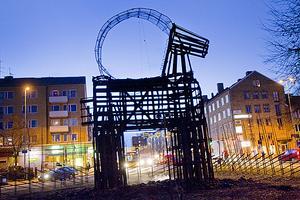 Gävlebocken fredag morgon den 2 december anno 2011, bara skelettet återstår.