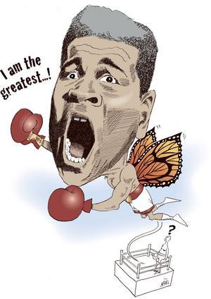 Muhammad Ali. Float like a butterfly and sting like a bee. Så beskrev han själv sin taktik.