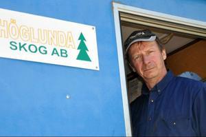 – Händelsen i vintras har kostat mitt företag årets vinst, konstaterar Höglunda Skogs ägare, Christer Backlund.Foto: Ingvar Ericsson